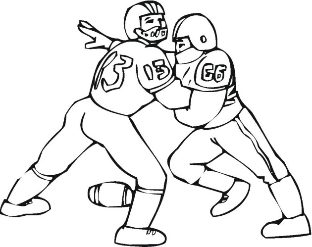 630x499 American Football Coloring Page