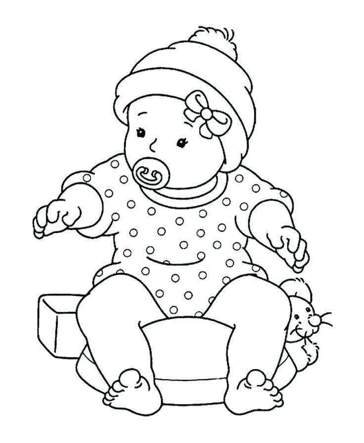 736x895 Doll Coloring Pages Good Doll Coloring Pages For Year Color Pages