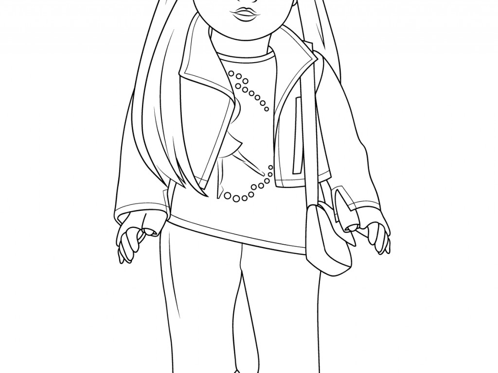 1024x768 Last Minute Free American Girl Coloring Pages To Print House Tank