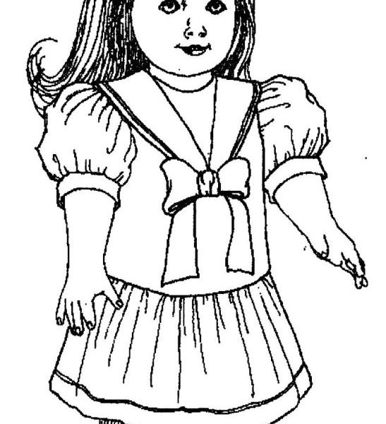 547x600 Modern Ideas American Girl Coloring Pages American Girl Doll
