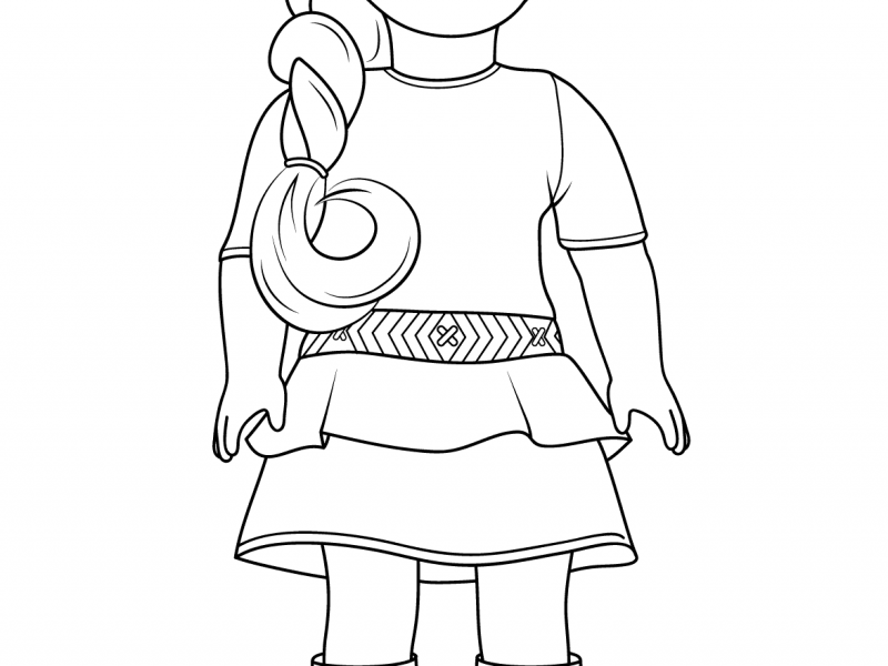 800x600 Perfect Ideas American Girl Coloring Pages American Girl Doll