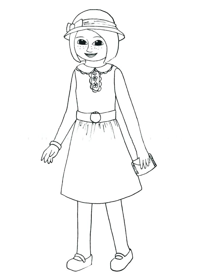 689x965 American Girl Coloring Pages Girl Color Pages Medium Size