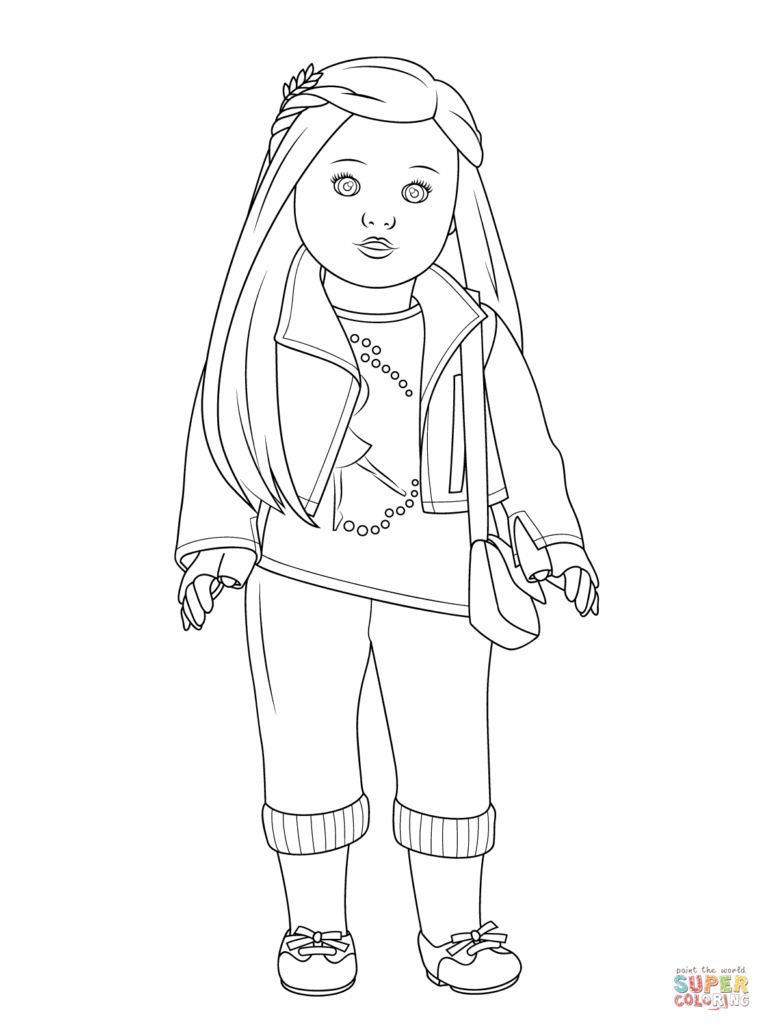 764x1024 American Girl Coloring Pages Kit Color Bros