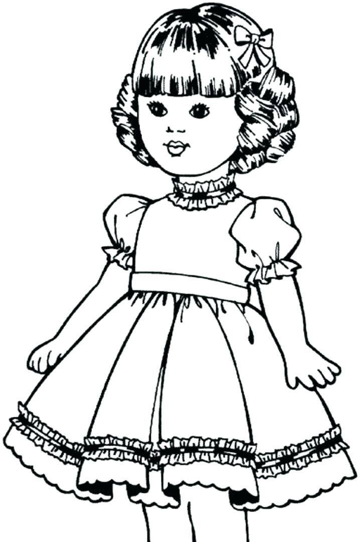 718x1081 American Girl Doll Coloring Pages Girl Coloring Pages Girl Doll