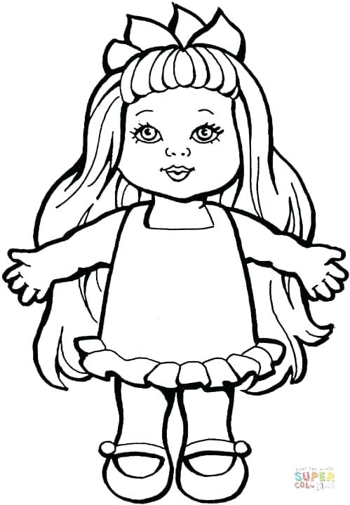 499x720 American Girl Doll Kit Coloring Pages Kids Coloring Girl Doll