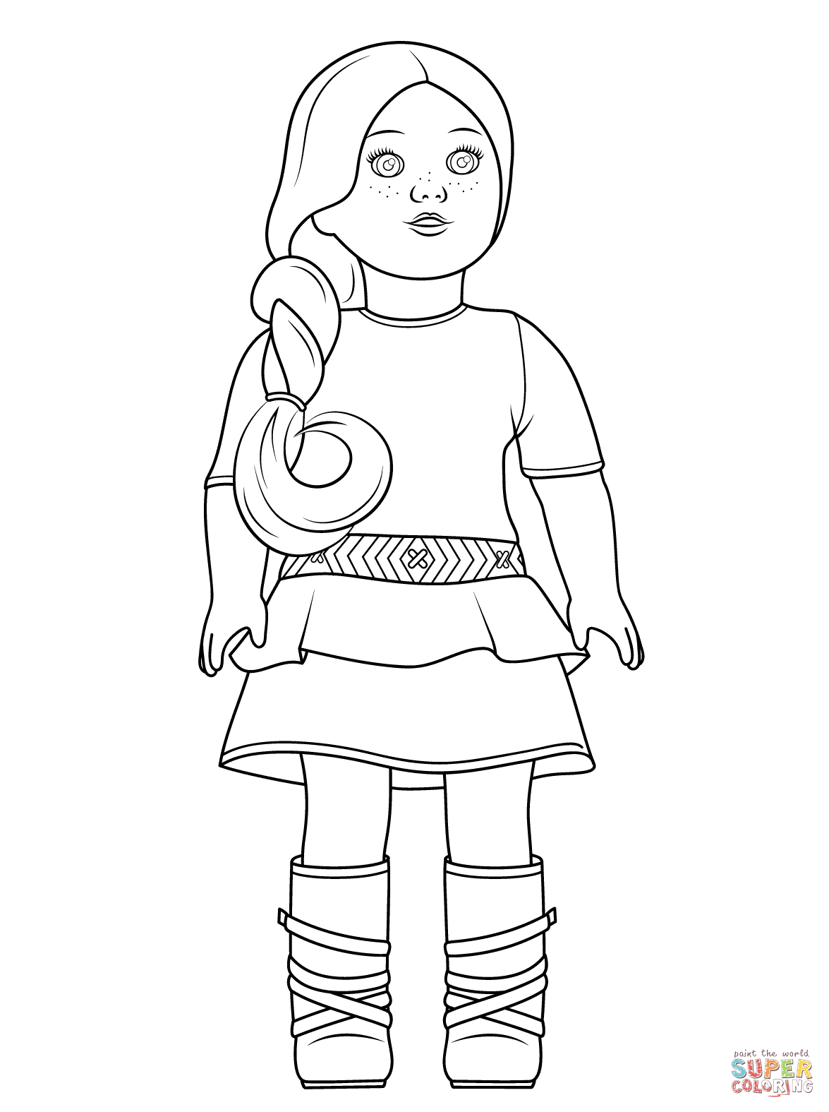 1175x1575 American Girl Doll Coloring Pages To Download And Print For Free