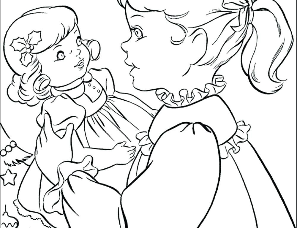 1000x768 Coloring Pages Of American Girl Dolls Girl Coloring Pages Girl