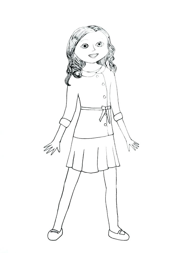 728x993 Kit Kittredge American Girl Coloring Pages Page Printable Love