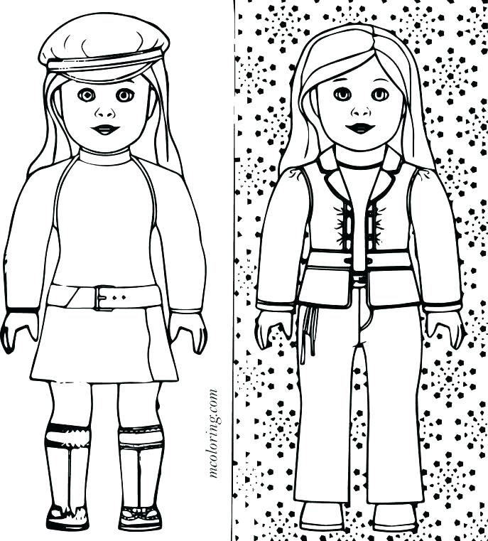687x761 Kit Kittredge American Girl Coloring Pages Unique And Doll