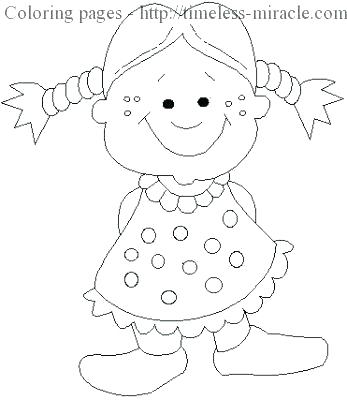 347x400 American Girl Coloring Pages