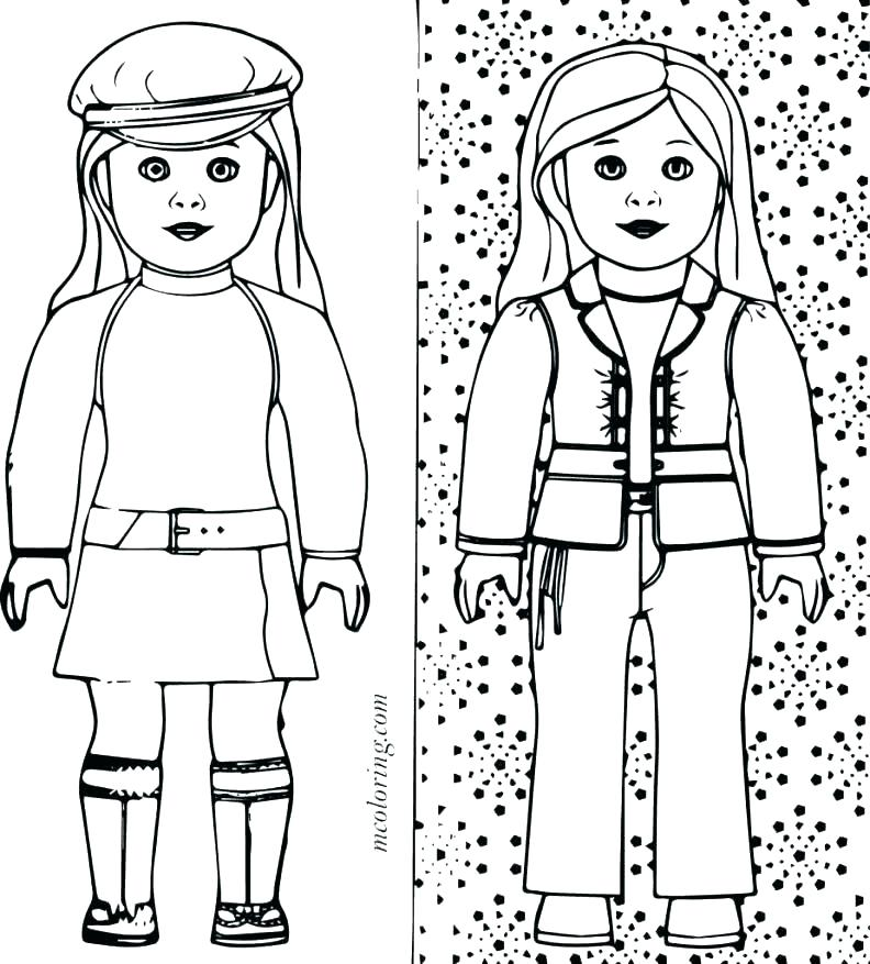 792x877 American Girl Coloring Ing Ing American Girl Doll Grace Coloring