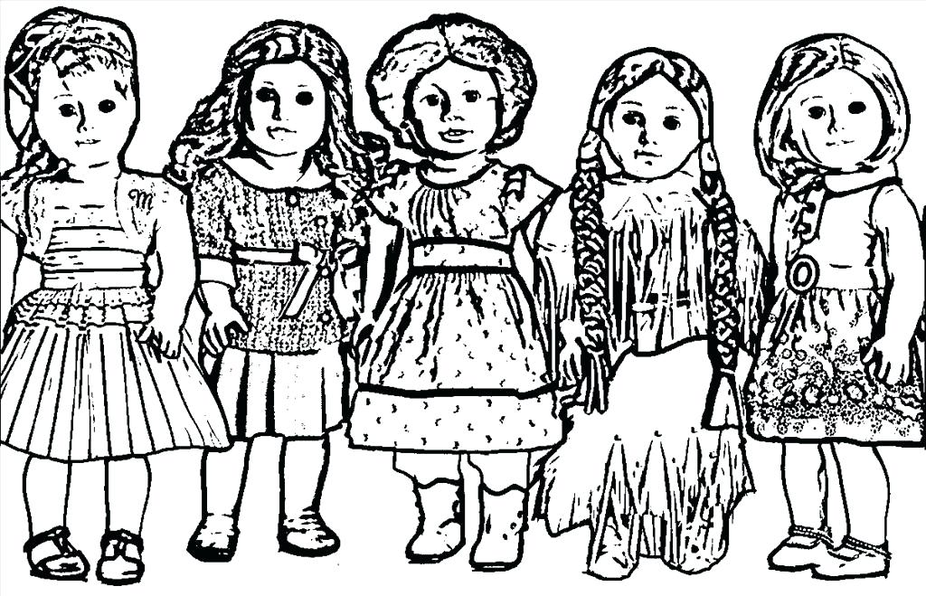 American Girl Doll Coloring Pages At GetDrawings Free Download