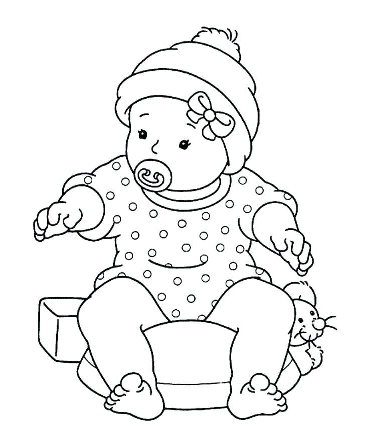 736x895 American Girl Doll Coloring Pages Doll Coloring Pages Baby Doll