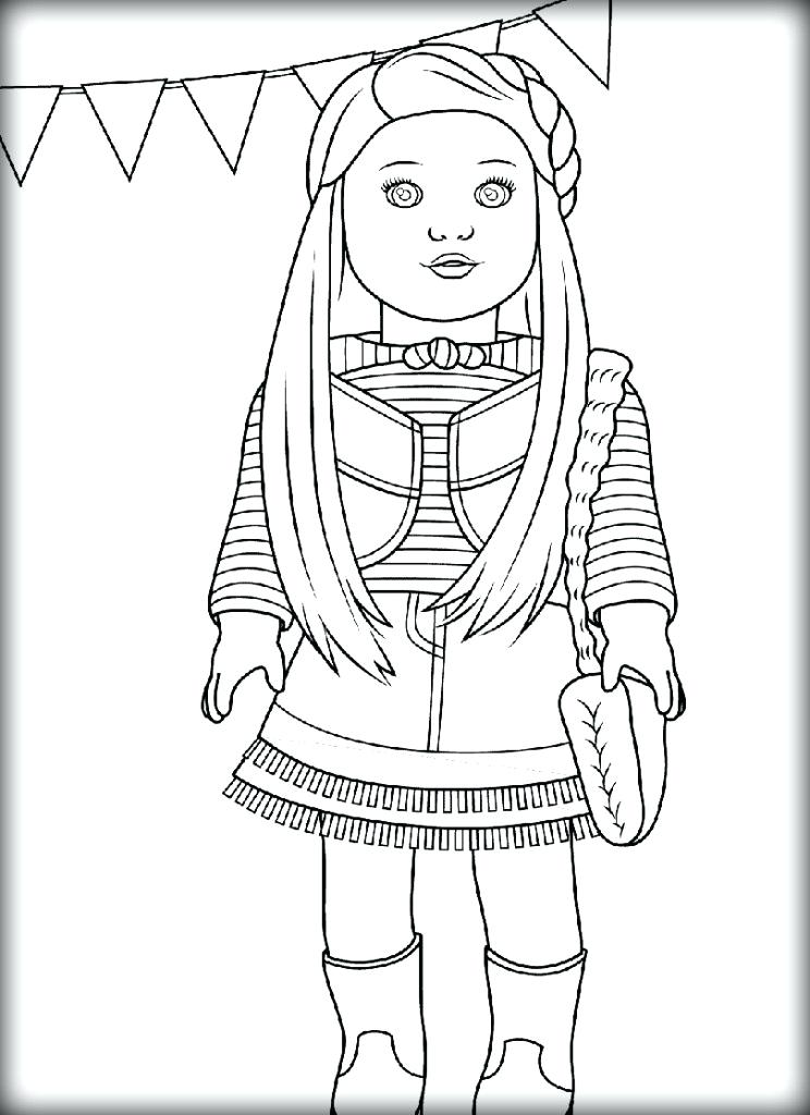 American Girl Doll Coloring Pages Free at GetDrawings.com ...