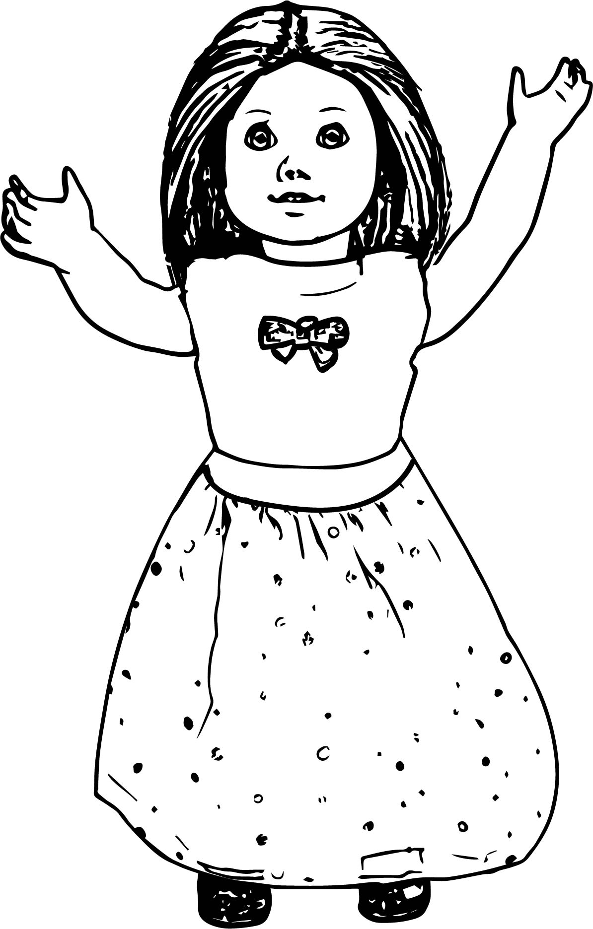 American Girl Doll Coloring Pages To Print At Getdrawings