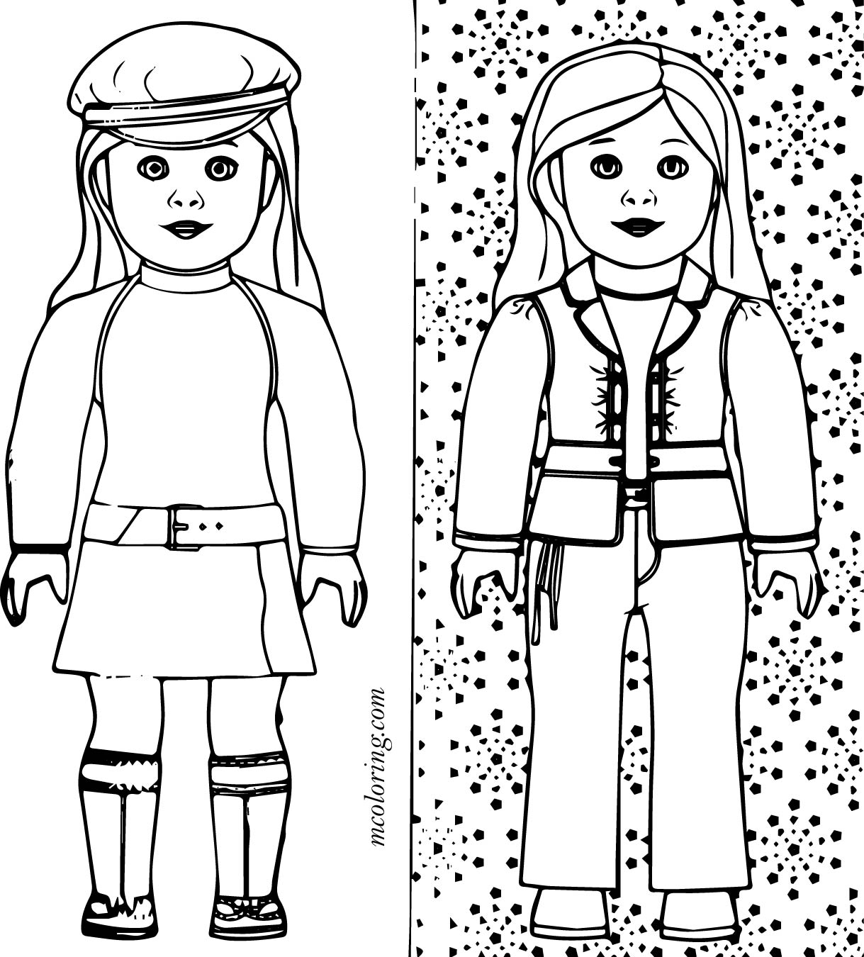 American Girl Doll Coloring Pages To Print At Getdrawings Com Free