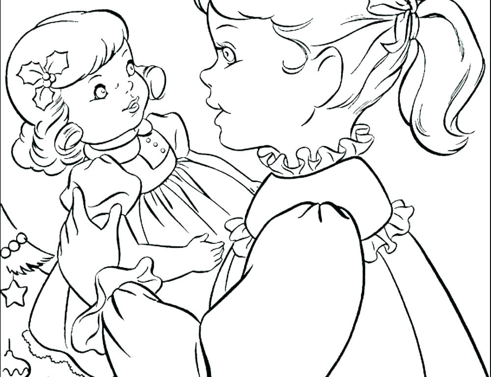 1000x768 American Girl Coloring Page Free Printable Girl Doll Coloring