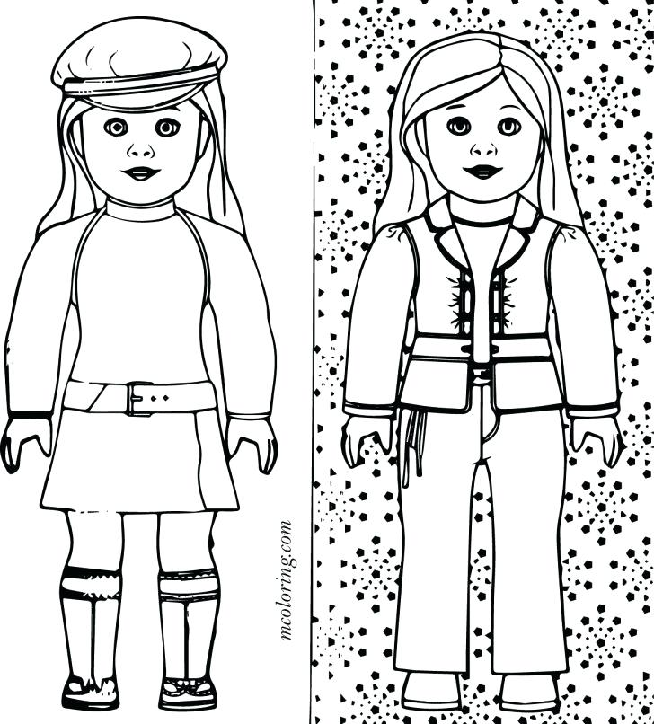 728x806 American Girl Coloring Pages Girl Doll Coloring Pages