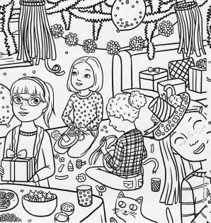 298x314 American Girl Coloring Pages Grace Printable Image High Definition
