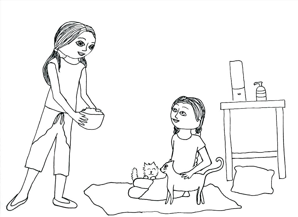 1024x746 American Girl Coloring Pages Printable Page For Creativity