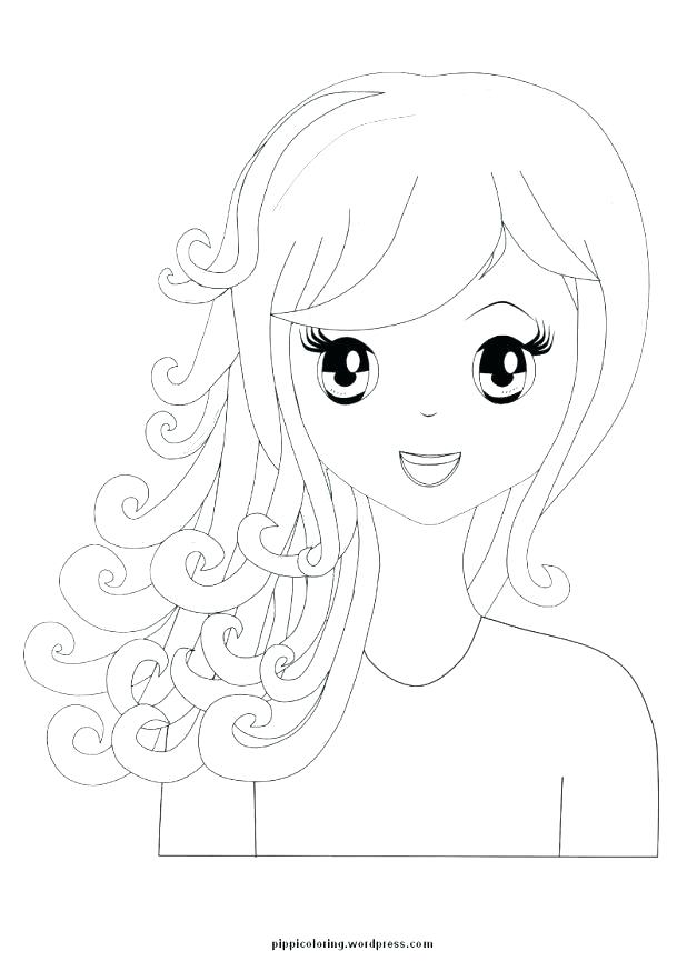 618x874 American Girl Coloring Pages To Print Girl Doll Coloring Book Girl