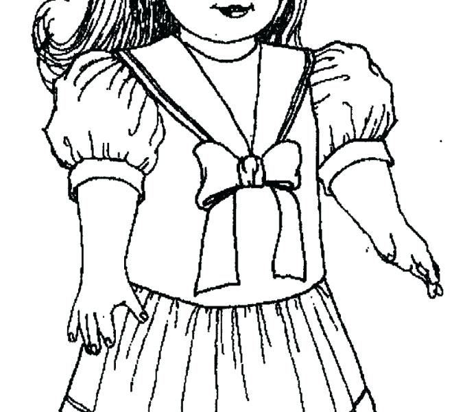678x600 American Girl Doll Coloring Pages Good Girl Doll Coloring Pages