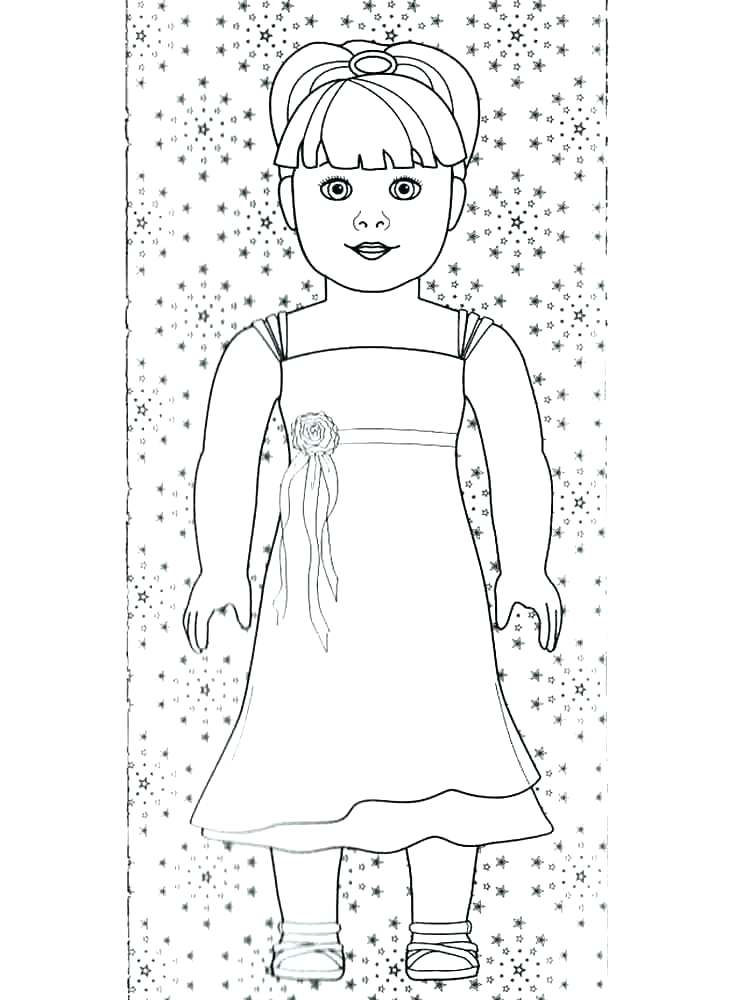 750x1000 American Girl Grace Coloring Pages To Print Printable Of Dolls