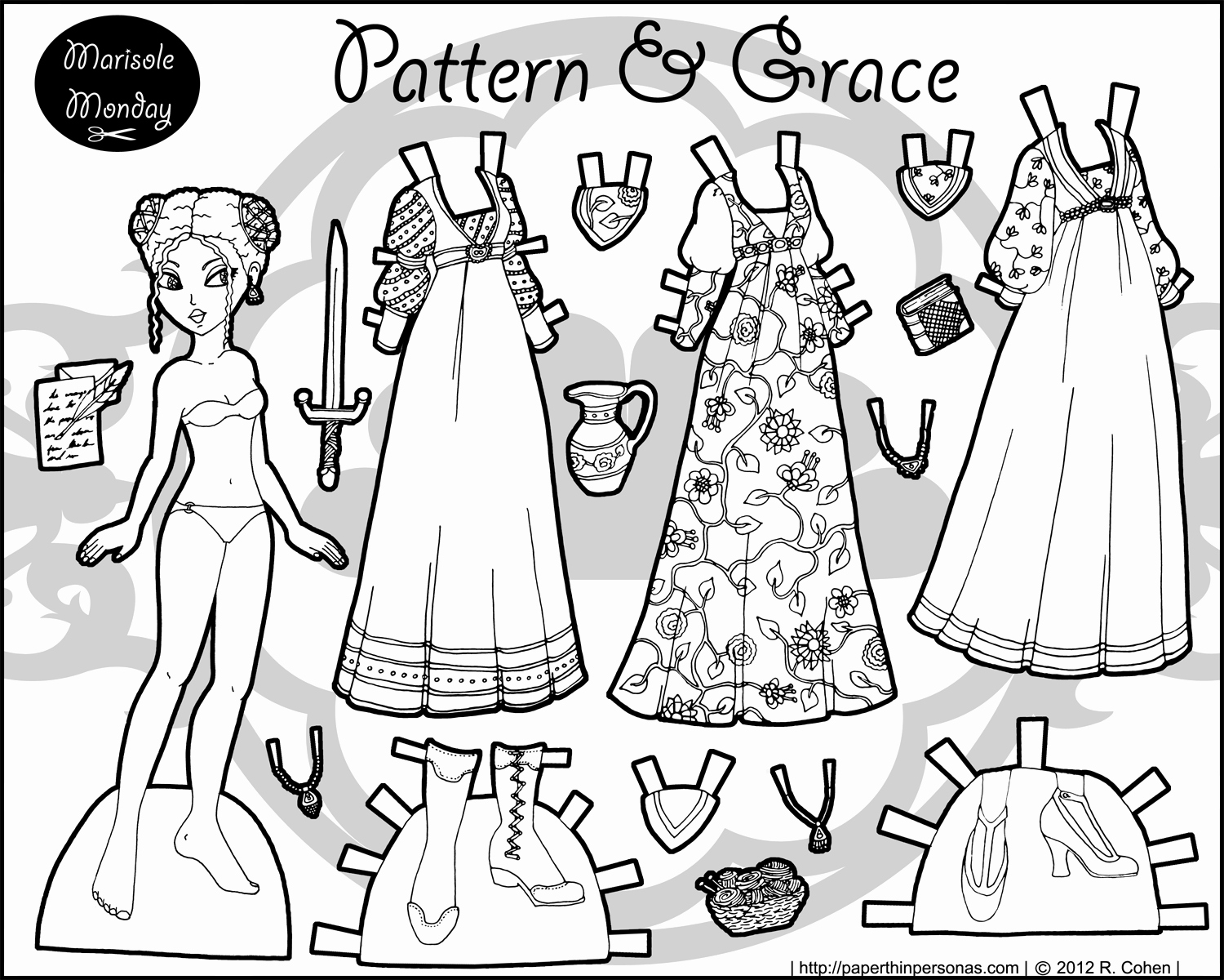 1500x1200 Coloring Pages Ofmerican Girl Dolls Beautiful Patterns Grace