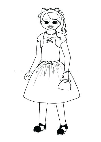 357x500 American Girl Doll Coloring Sheets