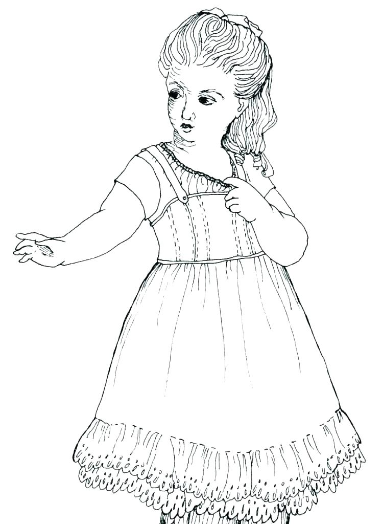 748x1024 American Girl Color Pages Girl Coloring Pages Free Girl Coloring