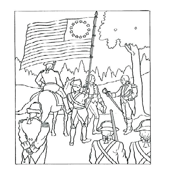 600x591 Contemporary American Revolution Coloring Pages Colouring
