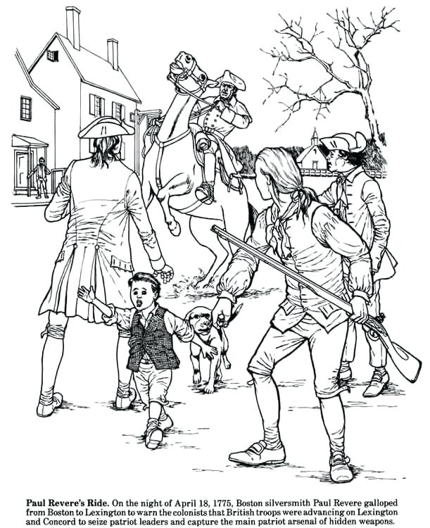 611x750 American Revolution Coloring Pages Story Of The Revolution