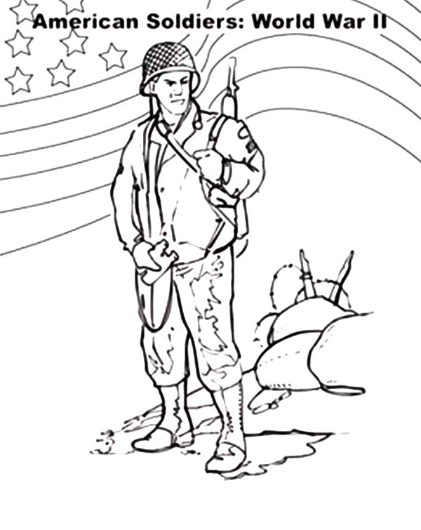 600x755 American Soldier Coloring Pages Color Bros
