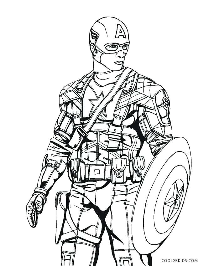 667x850 Captain America Coloring Pages Captain The Winter Soldier Coloring
