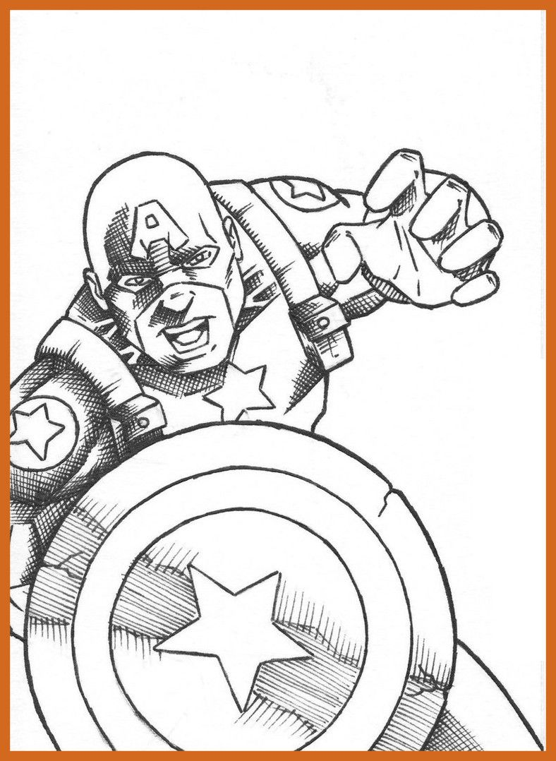 788x1078 Captain America Winter Soldier Coloring Pages