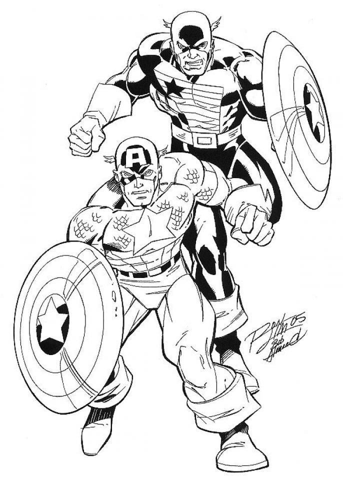 686x960 Captain America Winter Soldier Coloring Pages Color Bros