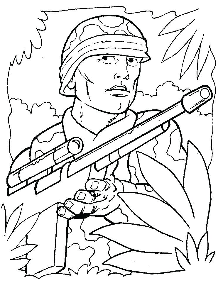 760x965 Colouring Pages Army Soldiers Coloring Of Us Soldier Page Free