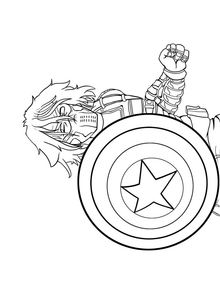 750x1000 The Winter Soldier Coloring Pages Free Printable The Winter