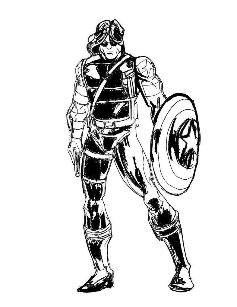 786x1017 The Winter Soldier Coloring Pages