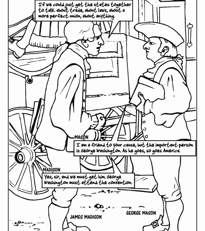 800x900 American Revolution Banner Colonial People Coloring Pages General