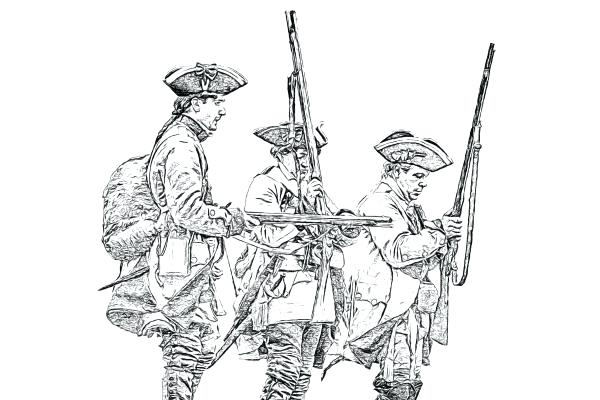 600x400 American Revolution Coloring Pages Pdf Revolution Soldiers