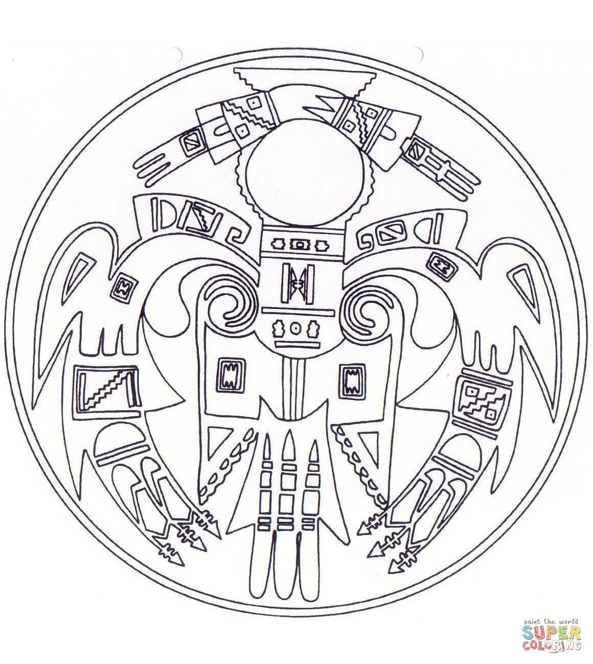 1160x1300 Inspiring Native American Symbols Coloring Pages Of For Adults