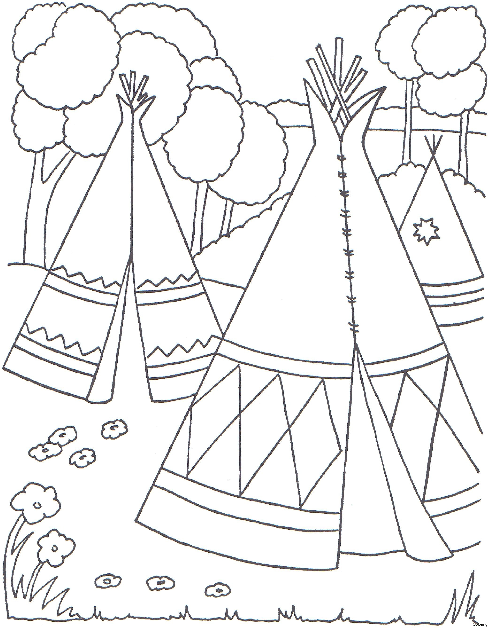 2088x2672 Native American Symbols Coloring Pages