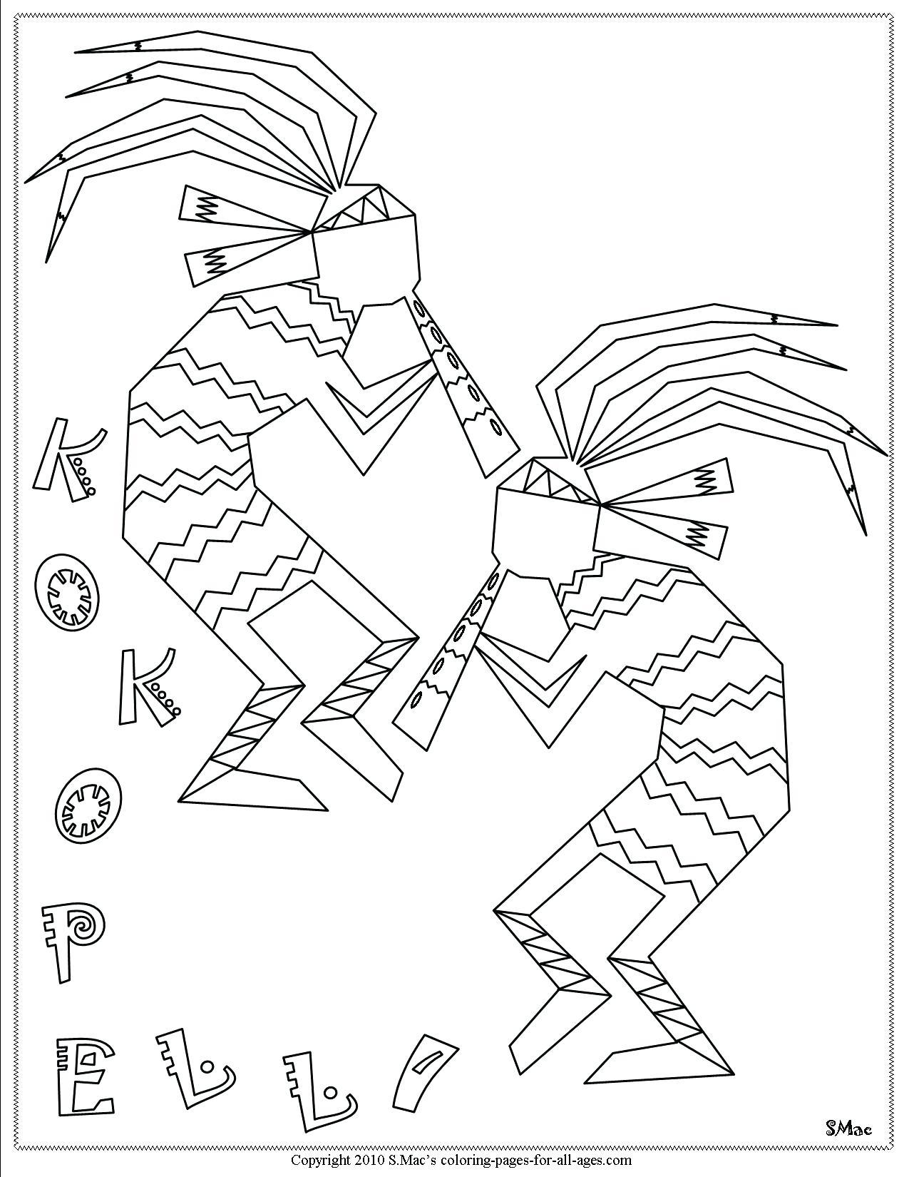 1275x1650 Printable Printable Nativemerican Symbols Coloring Pages
