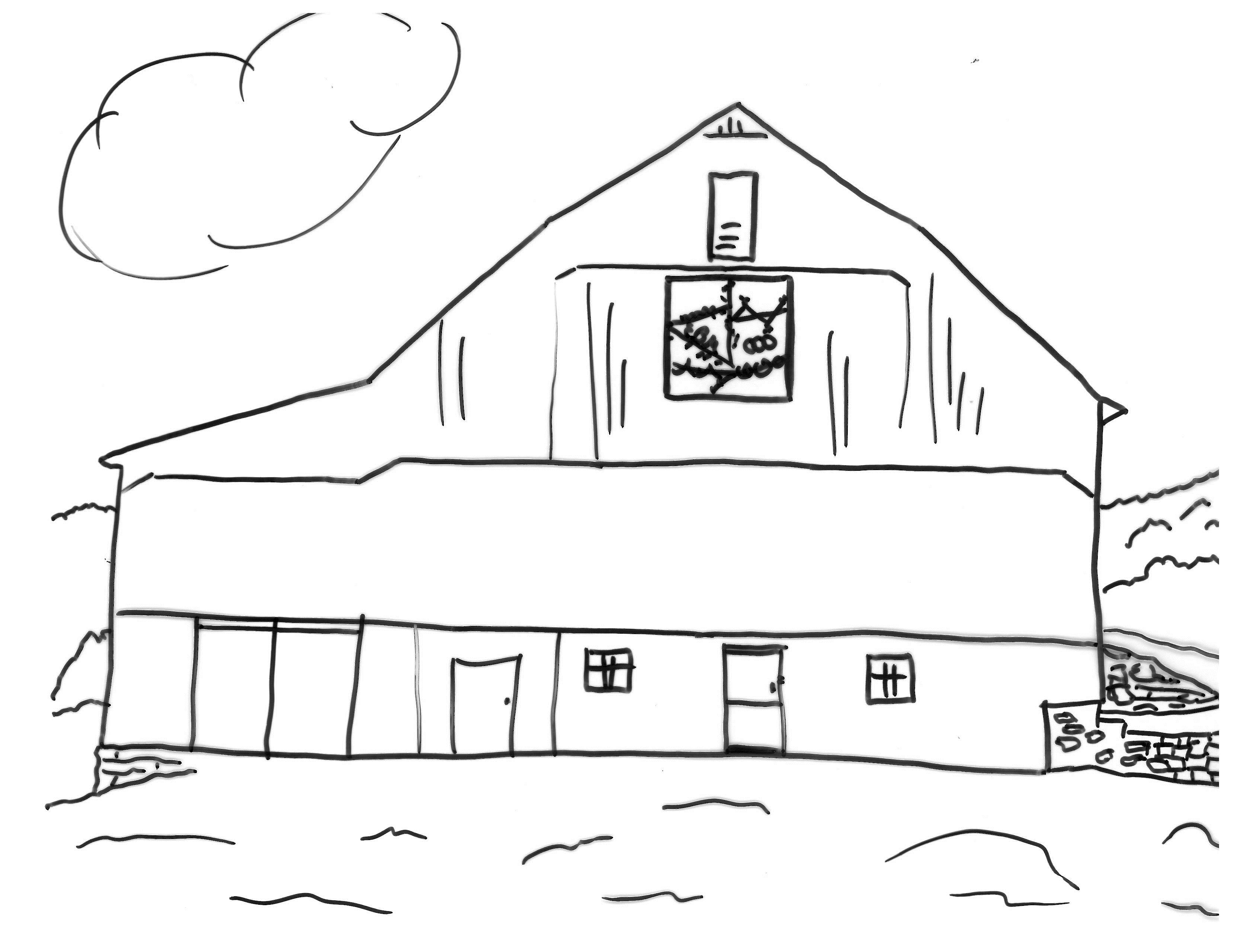 3328x2560 Coloring Pages Barn Quilts In Garrett County, Maryland