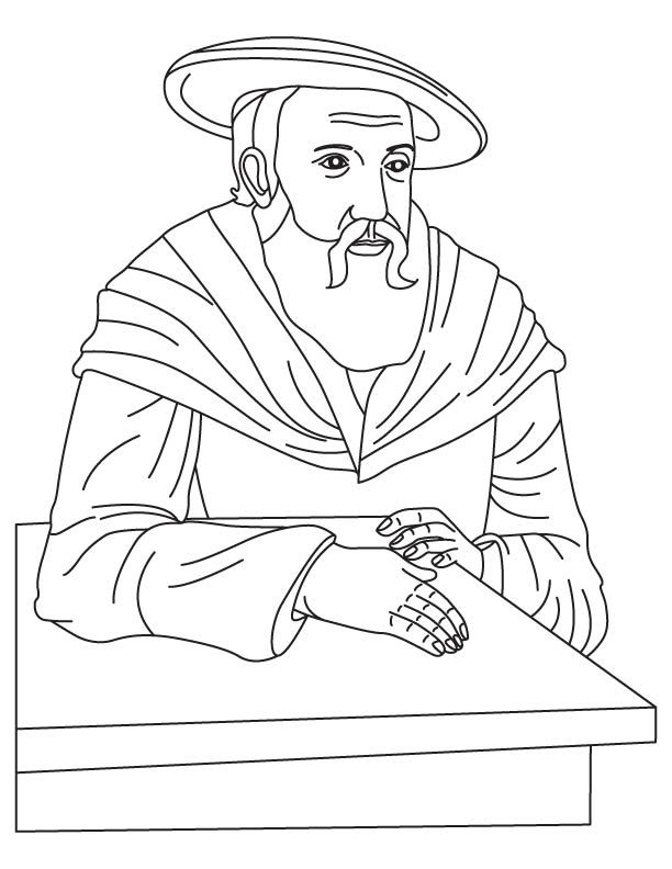 612x792 Johannes Kepler Coloring Page Mystery Of History