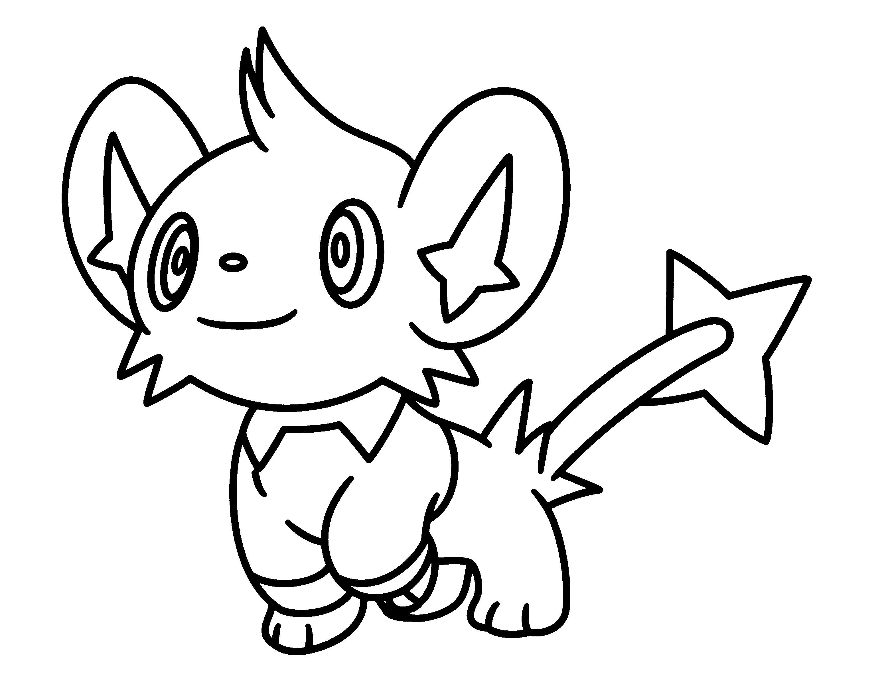 3100x2400 Pokemon Shinx Coloring Pages Printable Coloring For Kids