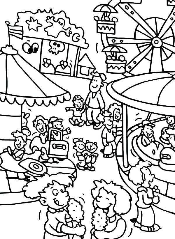 600x821 Carnival Coloring Page Carousel Coloring Page Carnival Coloring