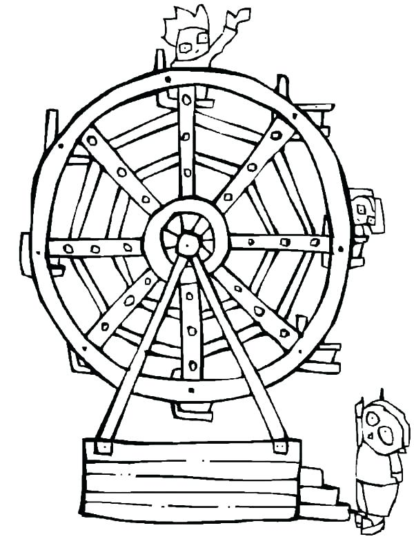 600x781 Carnival Coloring Page Just Add Color Carnival Amusement Park