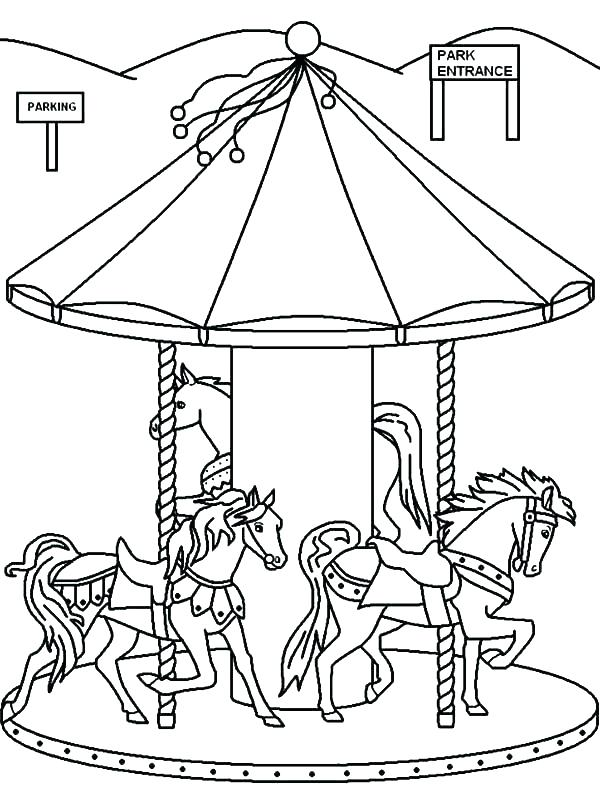600x800 Carnival Coloring Pages Theme Park Coloring Pages Carnivals